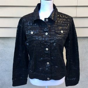 Guess jeans glamour black  jacket!